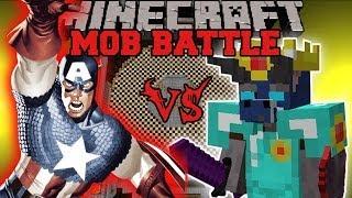 WALKER KING VS CAPTAIN AMERICA - Minecraft Mod Battle - Mob Battles - Superhero Better Dungeons Mods