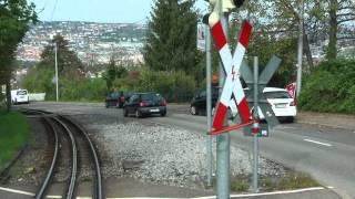 """Stadtbahn Stuttgart linia U10 Zahnradbahn """"Zacke"""" - führerstandsmitfahrt"""