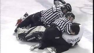 Ben Bishop Tornado Hockey Fight