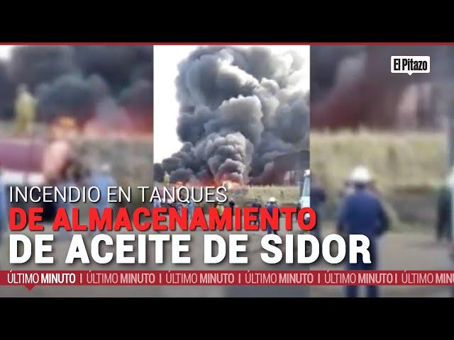 Bolívar | Sidor reporta incendio en tanques de almacenamiento de aceite