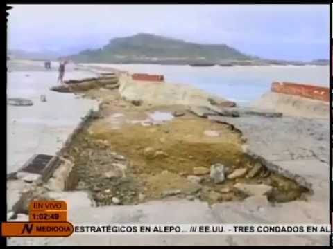 Huracán Matthew causa destrucción en Baracoa (Guantánamo) Cuba