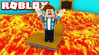 NÃO PISE NO CHÃO DE LAVA NO ROBLOX !! - ( Roblox The Floor is Lava )