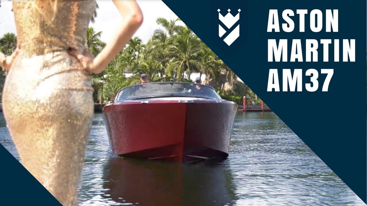 Aston Martin Hits The Water With The Am37 Youtube
