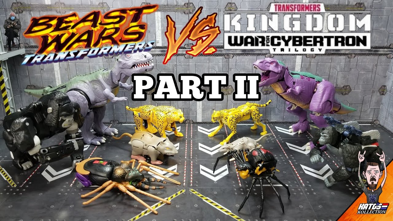Kingdom Wave 1 VS 1996 Transformers Beast Wars Part 2 by Kato's Kollection