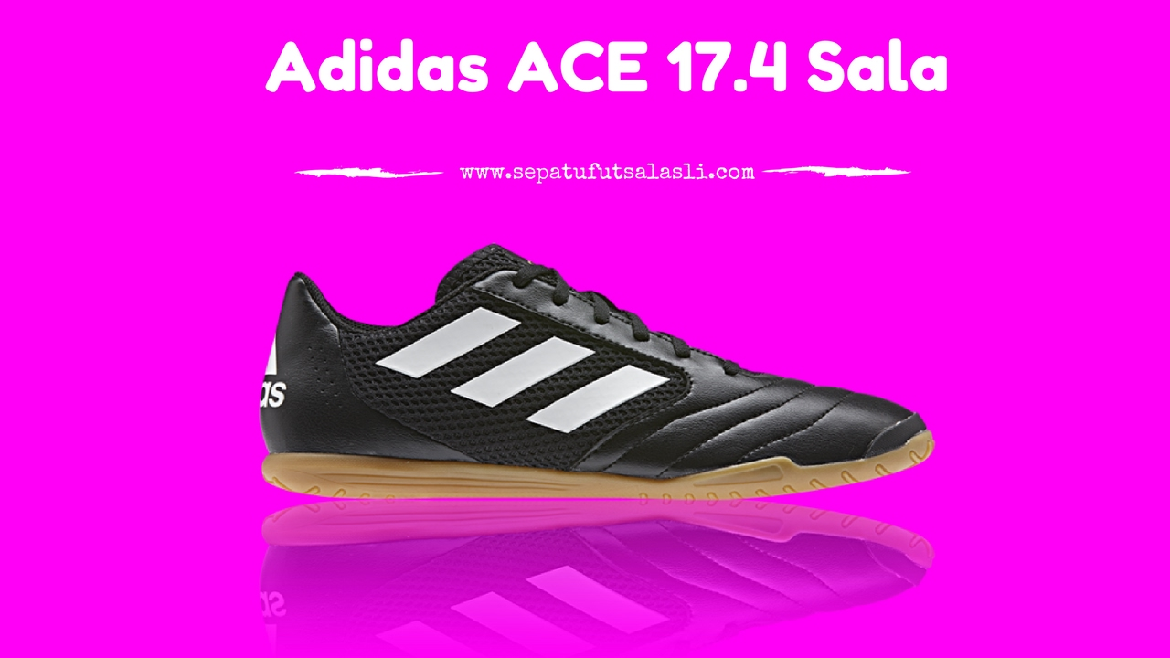 de3fa780f8ca Review Sepatu Futsal Adidas ACE 17.4 Sala Black White - YouTube