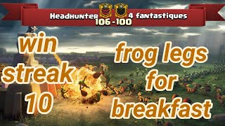 Headhunter vs 4 fantastiques | win streak 10 | war recap | best of | TH 12 | COC clash of clans 2018