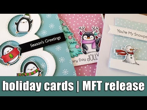 3 Cute Holiday Cards | MFT October Release