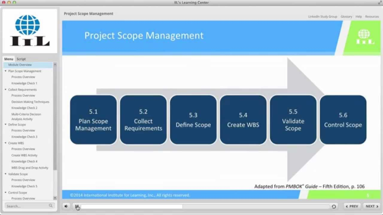 Project scope management iils project management certificate project scope management iils project management certificate program xflitez Choice Image