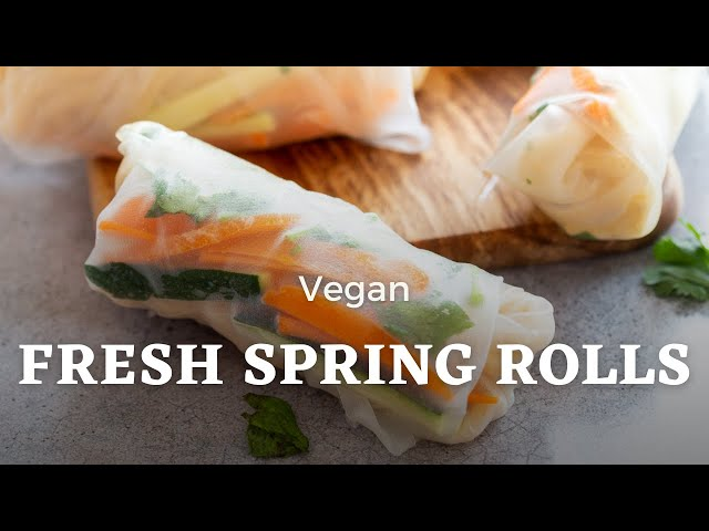 VEGAN SPRING ROLLS WITH PEANUT SAUCE RECIPE | Vegan Richa Recipes