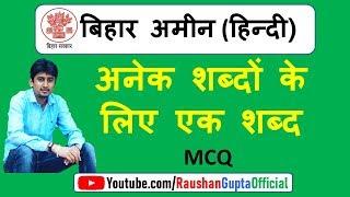 बिहार अमीन हिन्दी सेट-5 || अनेक शब्दों के लिए एक शब्द | hindi grammar |हिन्दी व्याकरण