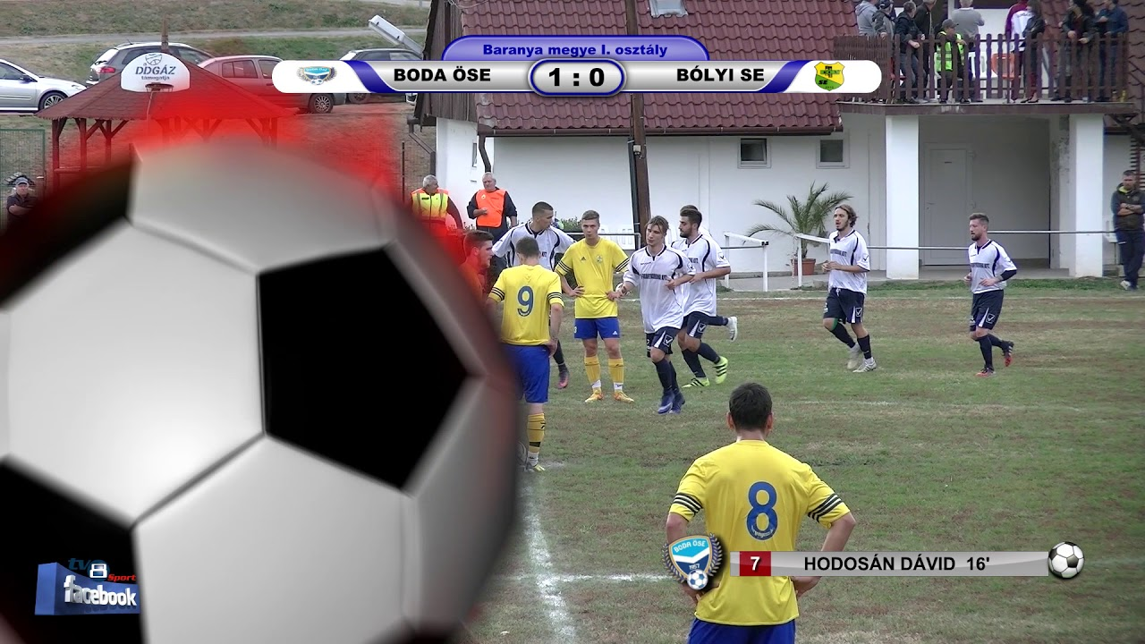 BODA ÖSE - BÓLYI SE    2 - 0 (1 - 0)