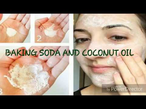 Look 5-10 years younger with this baking soda and coconut oil remedy || #DIY