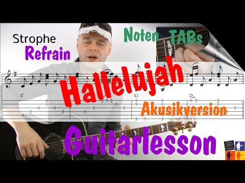 Hallelujah Akusikversion Guitarlesson Nilsen, Espen Holm, Fuentes