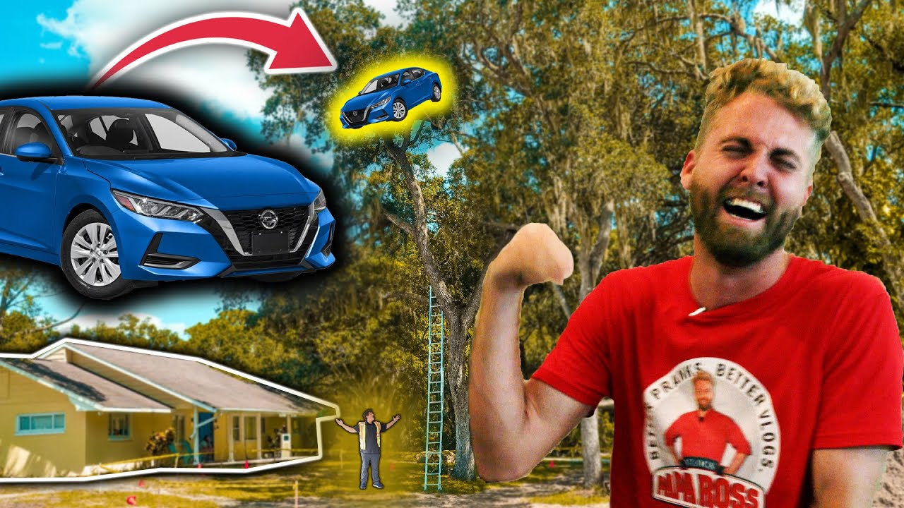 Putting My Car in the Top of a Tree and Calling a Tow Truck Prank