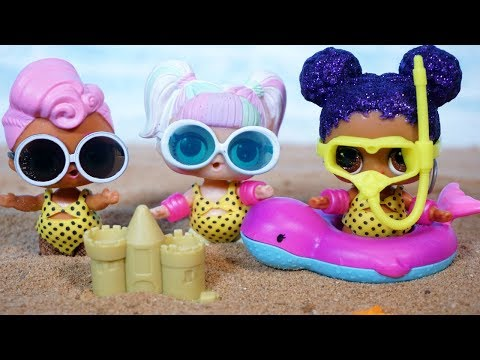 LOL SURPRISE DOLLS Fly To Florida And Go Boating!