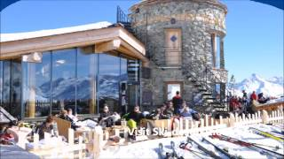 Ski-Destination Alpine Mountains in Austria Italy France Switzerland