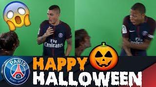 Halloween Prank! | feat. Kylian Mbappe, Marco Verratti, Thiago Silva , ...