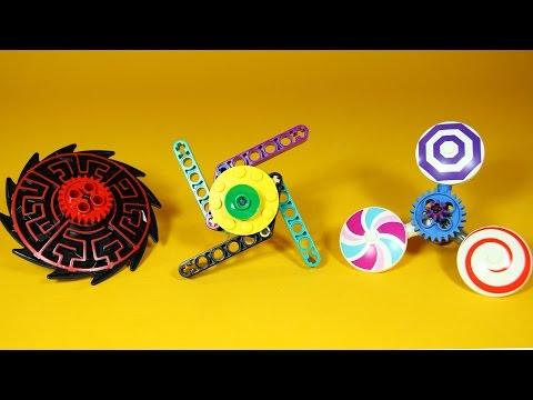 How to Build 4 LEGO Fidget Spinners | DIY Fidget Spinner