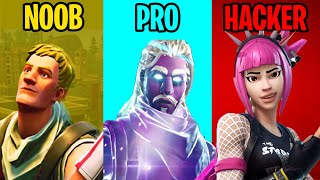 NOOB vs PRO vs HACKER - Fortnite Battle Royale #1