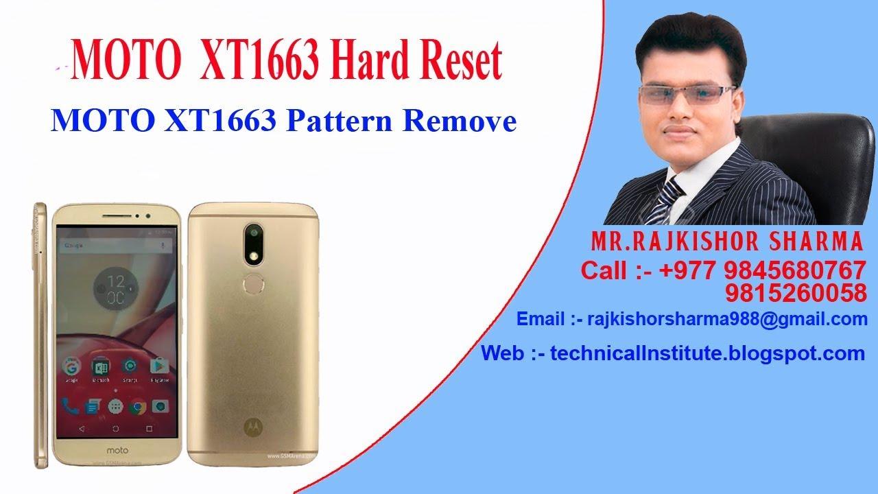 Moto M XT1663 unlock pattern ( Hard Reset )