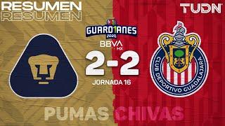 Resumen y goles | Pumas 2-2 Chivas | Guard1anes 2020 Liga BBVA MX - J16 | TUDN