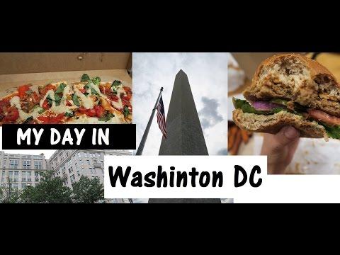 A Day in Washington DC | TRAVEL VLOG | GO VEGAN |