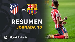 Resumen de Atlético de Madrid vs FC Barcelona (1-0)