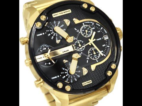 d28aa875f5b Shop Elegância - Relógio Diesel Dz 7333 4pn 57mm Dourado ORIGINAL - YouTube