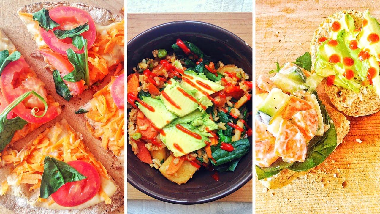 almuerzos veganos saludables f ciles y econ micos youtube