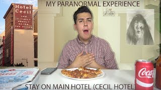 MY PARANORMAL EXPERIENCE AT THE STAY ON MAIN HOTEL (CECIL HOTEL) MUKBANG - KPXII