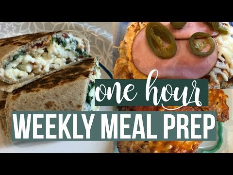 ONE HOUR Meal Prep | Copycat Starbucks Spinach, Feta & Egg White Wraps | Buffalo Chicken Burgers