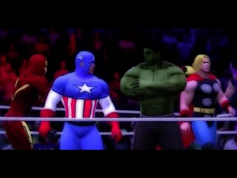 WWE'13 *Marvel vs DC comics* CARTOON