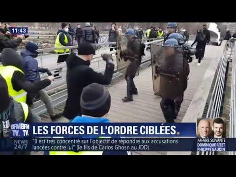 Lors de la mobilisation des gilets jaunes, un homme s'en est pris violemment aux forces de l'ordre