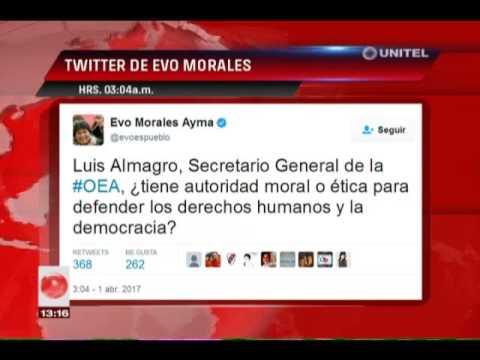 Evo Morales postea twits desde Cuba sobre la situación de Venezuela y Paraguay