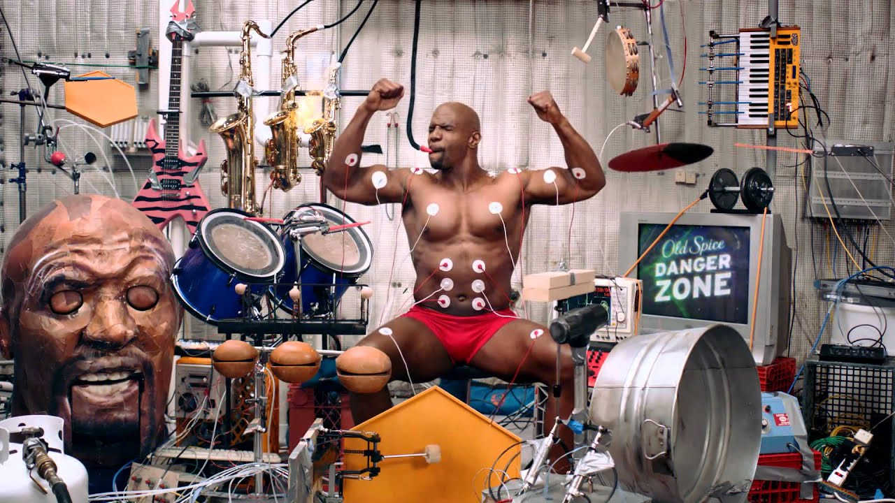 Old Spice Terry Crews Muscle Music Commercial 1080p Hd Youtube