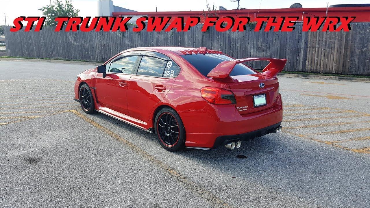 2017 Wrx Trunk Swap For Sti Wing