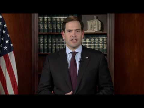 Marco Rubio Gives Weekly Republican Address