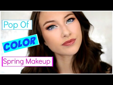 Pop of Color Spring Makeup Tutorial | Kelly Nelson