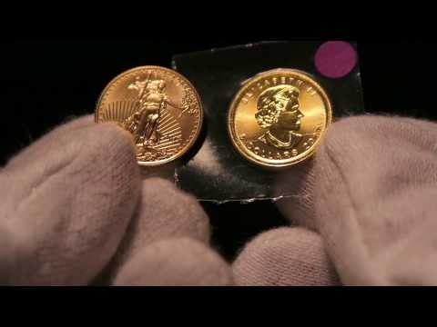 1/10 oz Gold American Eagle vs 1/10 oz Gold Canadian Maple Leaf