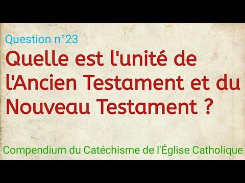 Quelle est l'unité de l'Ancien Testament et du Nouveau Testament ? Compendium du Catéchisme