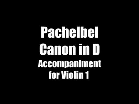 Pachelbel Canon Accompaniment for Violin 1