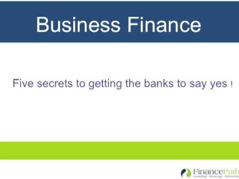 Getting the banks to say yes to business funding