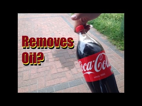 Does Coca Cola remove Oil from your driveway?