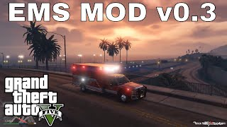 GTA 5 EMS MOD 0.3: LOS ANGELES AMBULANCE