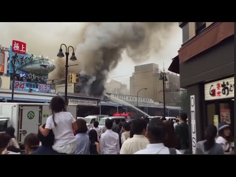 Fire Breaks Out at Iconic Japan Fish Market
