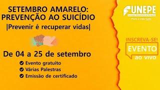 Setembro Amarelo: Risco Suicida na População Idosa/Depressão e Risco de Suicídio na Adolescência