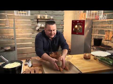 Люля-кебаб с аджикой и картофельной соломкой
