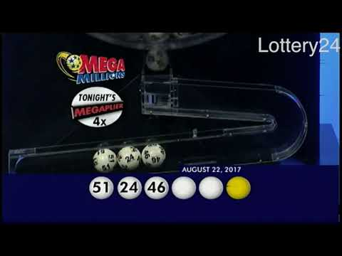 2017 08 22 Mega Millions Numbers and draw results