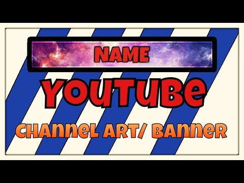 How to make a YouTube Channel Art or Banner with Photoshop ios and - how to make banner for youtube