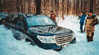 ЧТО МОЖЕТ Toyota Land Cruiser 200?  БЕЗ УАЗОВ НИКУДА! OFFROAD в СНЕГУ